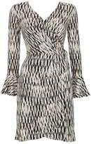 Wallis Petite Monochrome Geometric Print Wrap Dress