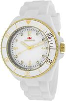 Seapro SP7411 Women's Sea Bubble White Silicone Watch with Crystal Accents