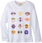 Fendi T-shirt With Monster Faces (Toddler/Kid) - White - 4