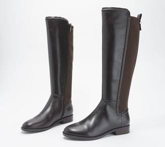 Marc Fisher Leather Wide-Calf Tall-Shaft Boots - Shiane