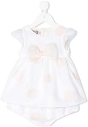 La Stupenderia Polka Dot Print Party Dress