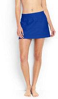 Lands' End Women's Texture SwimMini Swim Skirt-Calypso Blue