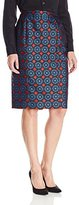 Anne Klein Women's Medallion Jacquard Skirt