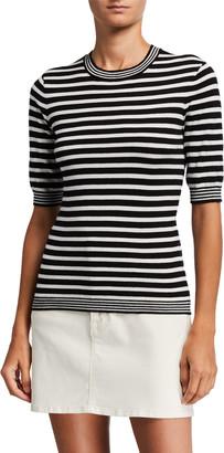 Frame 70's Striped Cotton-Cashmere Sweater