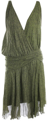 Ermanno Scervino Green Silk Dresses