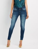 Charlotte Russe Push-Up Mid-Rise Skinny Jeans
