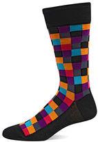 Hot Sox Geometric Box Crew Trouser Socks