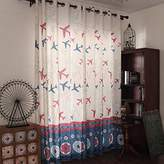 """LELVA LELVA Boys Bedroom Decoration Curtains Kids Room Curtains Thermal Insulated Blackout Panel Planes Print Curtain Packet 2 Piece (W37"""" X L63"""")"""