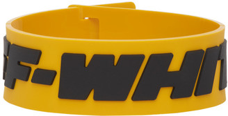 Off-White Yellow and Black Industrial Bracelet