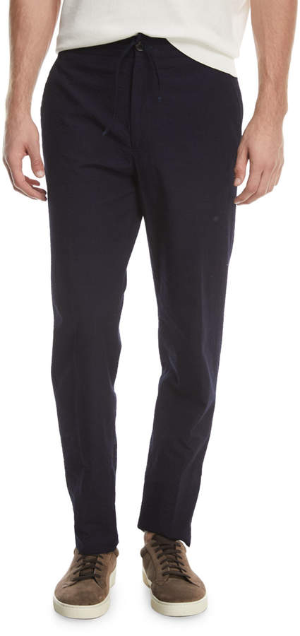 Ermenegildo Zegna Solid Cotton Seersucker Pants