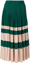 No.21 pleated midi skirt