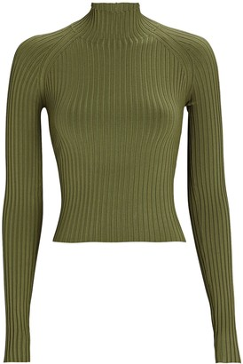 Dion Lee Rib Knit Cut-Out Top