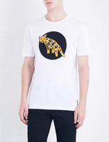 Fendi Jaguar-appliqué cotton-jersey T-shirt