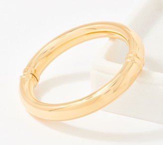 NUOVO Oro Hinged Large Bangle 14K Gold Over Resin
