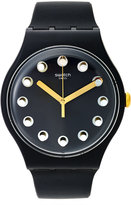 Swatch Unisex Swiss Passe Temps Charcoal Gray Silicone Strap Watch 41mm SUOM104