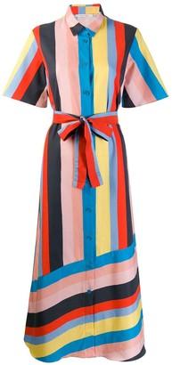 Parker Chinti & striped shirt dress