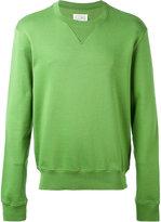 Maison Margiela crew neck sweater - men - Cotton/Calf Leather - 46