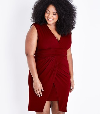 New Look Mela Curves Wrap Hem Mini Dress
