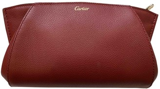 Cartier C Burgundy Leather Clutch bags