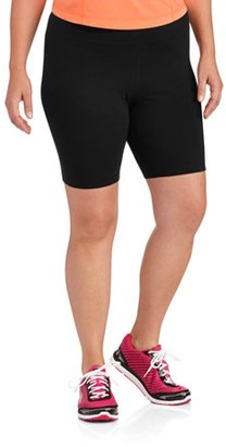 Danskin Women's Plus Size Cotton Bike Short