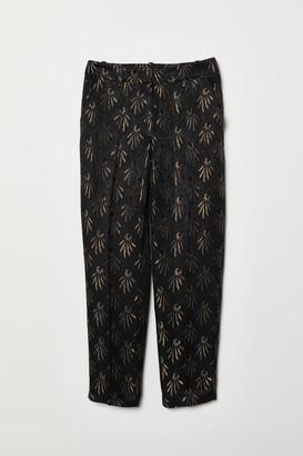 H&M Jacquard-patterned trousers