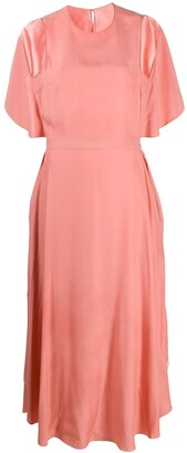 Stella McCartney Rosa open-back draped midi dress