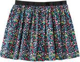 Joe Fresh Toddler Girls' Dot Flared Skirt, JF Midnight Blue (Size 5)