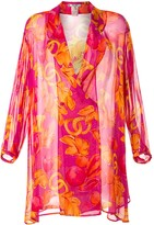 Celine Pre Owned fruit print kaftan