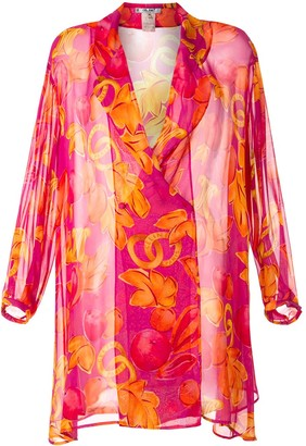 Céline Pre-Owned Fruit Print Kaftan