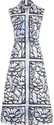 Fendi X Joshua Vides Ff Sky Flowers Denim Dress