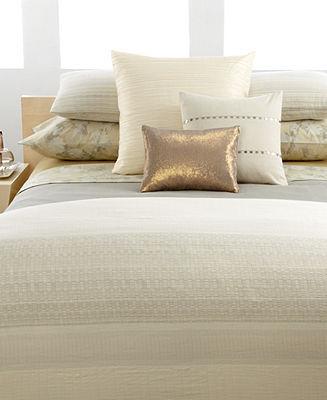 Calvin Klein Home CLOSEOUT! Bedding, Neutral Double Weave European Sham