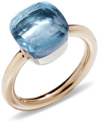 Pomellato Nudo Blue Topaz Classic Ring Size 57