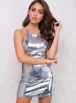 Motel Silver Sequin Hedi Dress