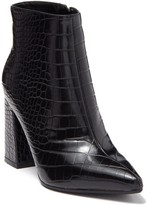 Seven Dials Felicia Croc Embossed Pointed Toe Ankle Boot