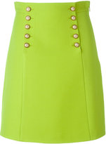 Gucci buttoned A-line skirt - women - Silk/Acetate/Wool - 42