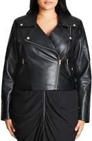 City Chic Faux Leather Moto Jacket