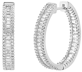 Bliss Sterling Silver & Cubic Zirconia In & Out Hoop Earrings