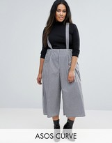 Asos Culotte Pants with Straps in Gingham Check