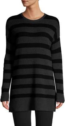 Eileen Fisher Striped Merino Wool Sweater Dress