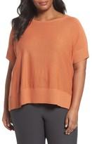 Eileen Fisher Plus Size Women's Tencel & Merino Wool Top