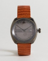 Vivienne Westwood VV080GNTN Bermondsey Leather Watch In Tan