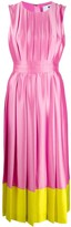 MSGM Pleated Colour Block Dress