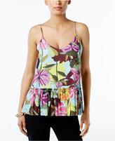Trina Turk Hadley Floral-Print Peplum Top