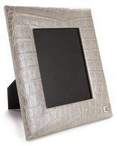 Fendi Croc-Printed Leather Lux Frame