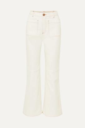 See by Chloe High-rise Kick-flare Jeans - Ecru