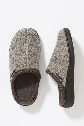 Haflinger Wool Slippers By in Grey Size 36