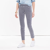 """Madewell 9"""" High-Rise Skinny Crop Jeans: Gingham Edition"""