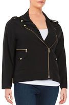 Calvin Klein Plus Plus Zip-Accented Moto Jacket