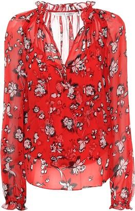 Veronica Beard Antonette floral silk blouse