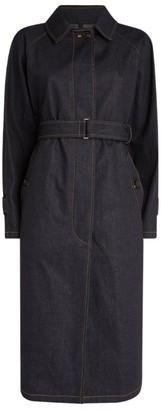 Moncler Pistache Denim Trench Coat